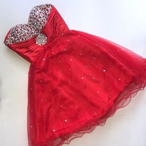 Homecoming/Prom Red Sequined Dress